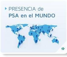 Banner Presencia de PSA en el mundo